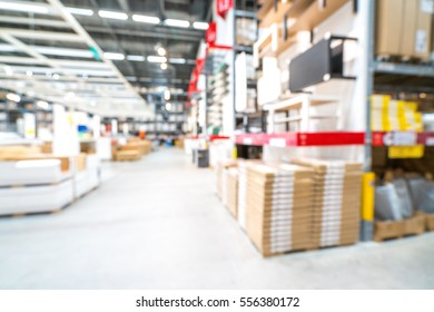 Warehouse or storehouse with blur background