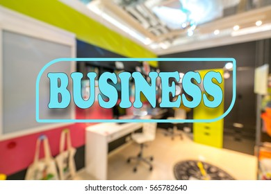Warehouse and text with business conceptual