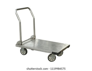 Warehouse trolley isolated on white background