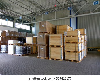 warehouse of wood in the furniture factory