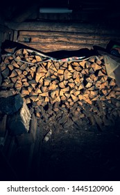 The warehouse is of wood, the wood in the shed.