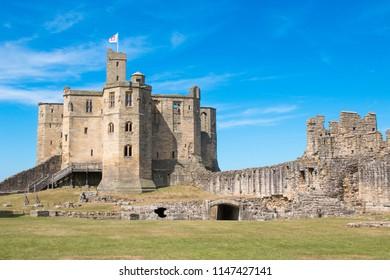 warkworth castle and ermitage england united kingdom europe