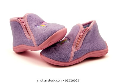 warm baby shoes isolated on white background