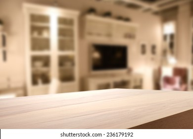 warm color of home interior background and deck