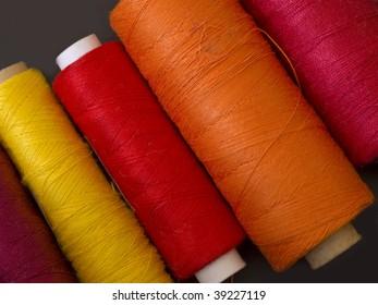 warm colored bobbins