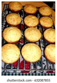 warm crispy corn muffins right out of the oven