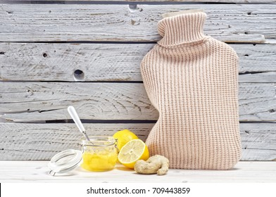 Warm and homely atmosphere in a cold winter day.A curative set, an invigorating drink with a common cold.