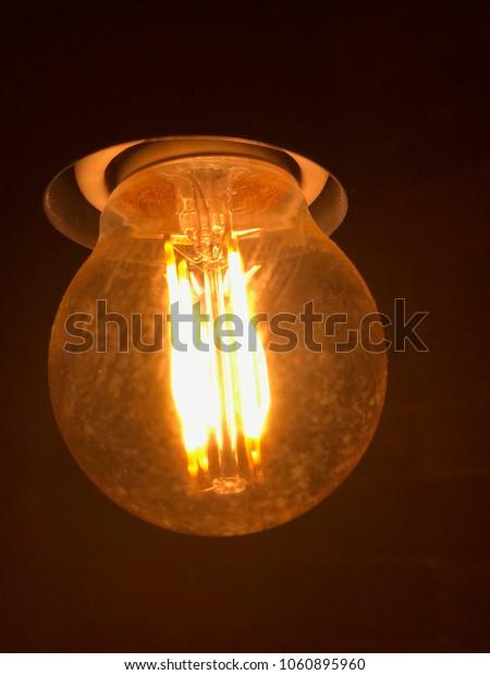 Warm light bulb