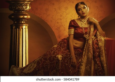 Warm look of Indian Bride