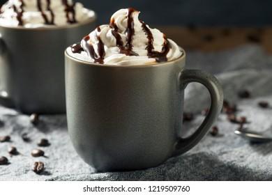 Warm Mocha Iced Coffee with Whipped Cream