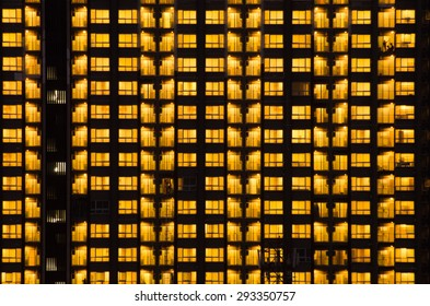 Warm Night Light Building pattern