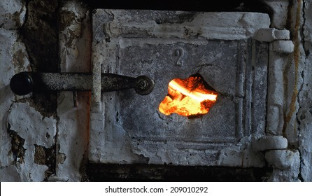 warm and safe  - old stove in the countryside