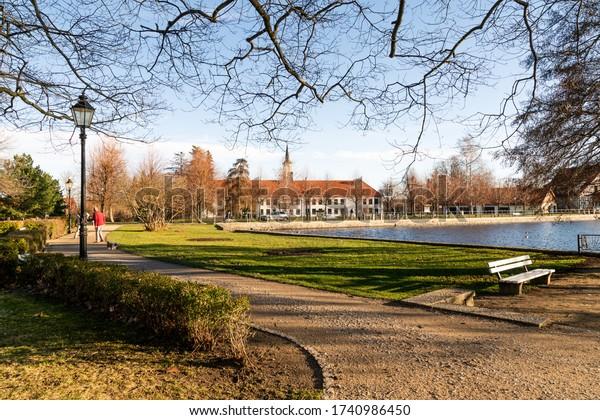 Warm summer day at in the park. Ilsenburg Harz