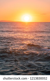 warm summer sea sunset. Sunset on the sea