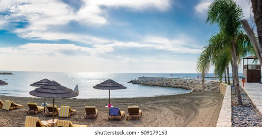 A warm and sunny day at a beach in Limassol