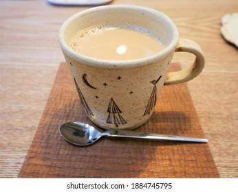 暖かくて甘いカフェオレ