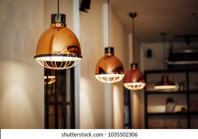 Warm and Vintage Interior Light, Coffee Shop