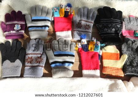 891da181f0a Warm Winter Gloves Socks Babies Stock Photo (Edit Now) 1212027601 ...