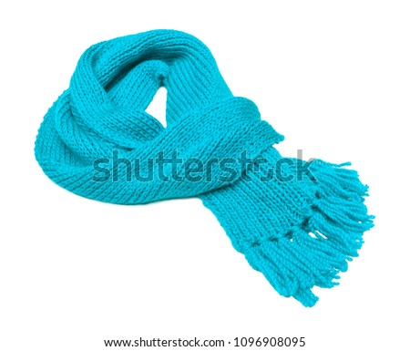 5bd95bb5c9cd6 Warm Winter Scarf Isolated On White Stock Photo (Edit Now ...