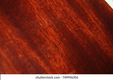 Warm wood grain on an acoustic guitar