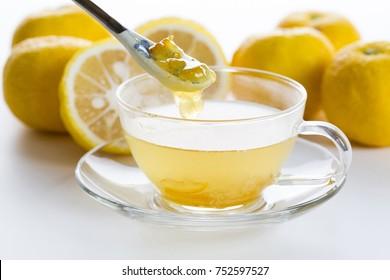 Warm Yuzu tea