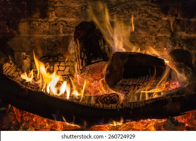 The warmth of a blazing fireside