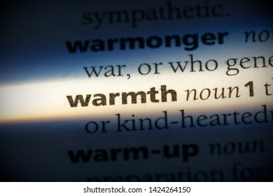 warmth word in a dictionary. warmth concept, definition.