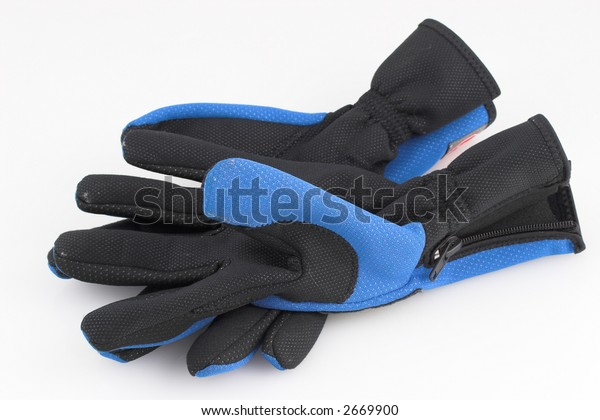 Warn sports gloves with zip undone and open