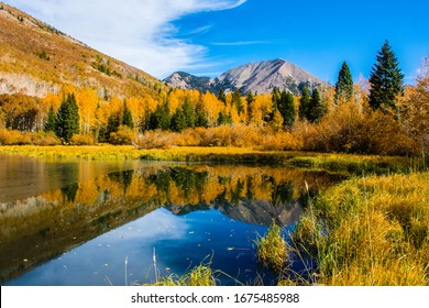 Warner Lake and Haystack Peak in LaSal Mountains of Utah
