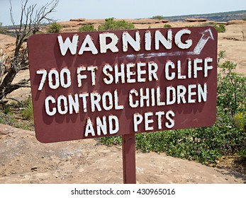 Warning 700ft cliff