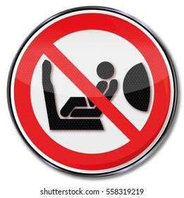 Warning airbag and injury of children