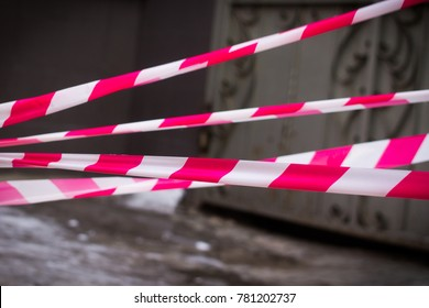 warning barricade tape