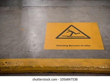 Warning Beware of step