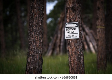 Warning Bigfoot Area