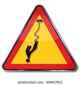 Warning bungee jumping
