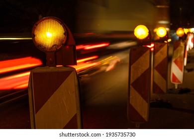 Warnleuchte mit leichten Lkw-Trails