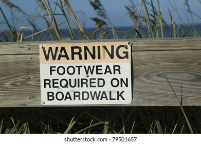 Warning Sign - Footwear Required
