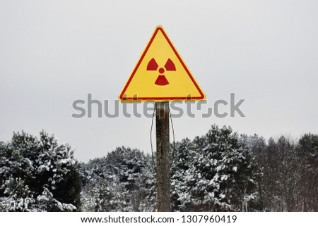Warning sign of radiation