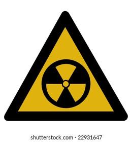 Warning sign - Radioactive
