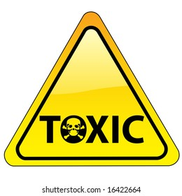 warning sign with skull symbol (also available as vector)