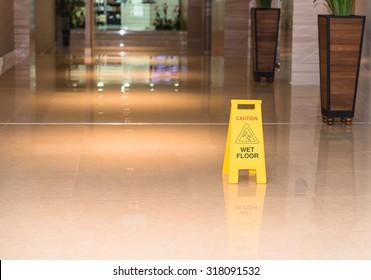 Warning sign for wet floor