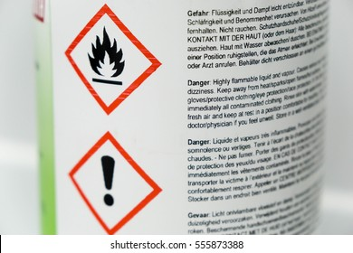 warning signs on a bottle