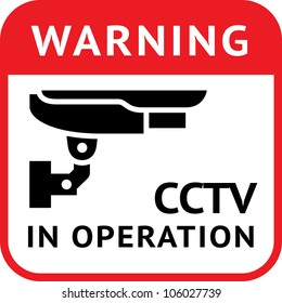 Warning Sticker for Security Alarm CCTV Camera Surveillance. Eps version also available in my image gallery