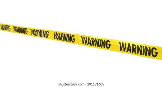 WARNING Tape Line at Angle