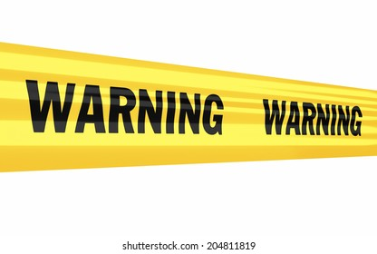 warning tape strip (isolated on white and clipping path)
