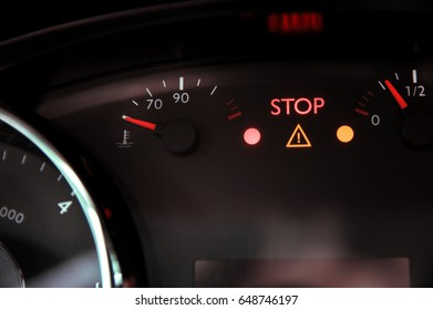 """Warning triangle light and """"stop"""" ignite on dashboard"""