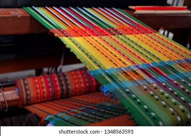 Warp meets Weft-weaving on conventional loom