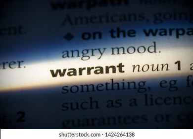 warrant word in a dictionary. warrant concept, definition.