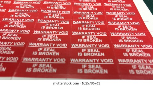 Warranty Void stickers