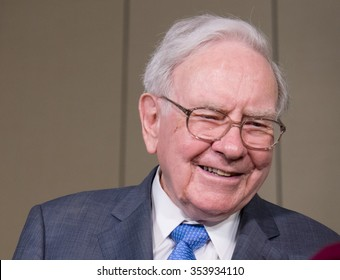 Warren Buffett, chairman and CEO of Berkshire Hathaway is interviewed after the annual Berkshire Hathaway shareholders meeting held at the CenturyLink Center in Omaha, Neb. on Saturday, May 2, 2015.